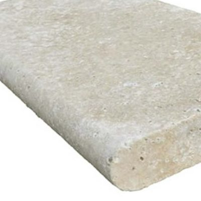 Ivory Travertine Bullnose Pool Coping Edge Pavers and Tiles by stone pavers