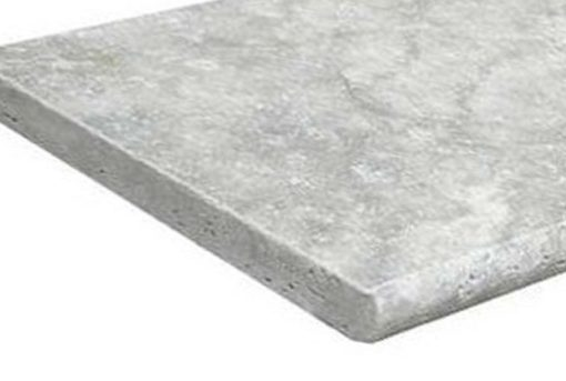 Silver Travertine Bullnose Pool Coping Tiles and pavers by stone pavers