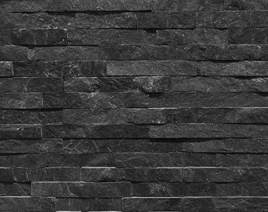 black ebony stone wall cladding tiles, natural stone tiles, water feature stone tiles, fireplace stone tiles by stone pavers melbourne, sydney, canberra