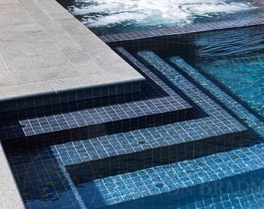 dove granite bullnose pool coping tiles, white coping, light pool coping by stone pavers australia, pool pavers, pool steppers