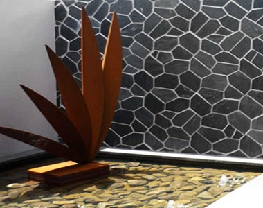 ebony on mesh crazy paving tiles and pavers, outdoor tiles, outdoor pavers, dark tiles, black tiles by stone pavers melbourne, national tiles, bunnings,