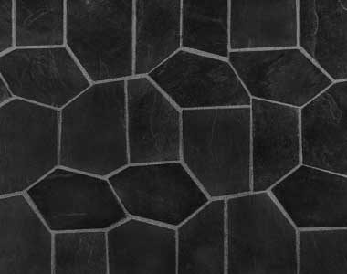 ebony on mesh crazy paving tiles and pavers, outdoor tiles, outdoor pavers, dark tiles, black tiles by stone pavers melbourne