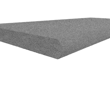 raven granite pool coping bullnose tiles, grey coping tiles, dark coping tiles, black granite pool coping by stone pavers australia
