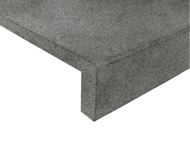 raven grey granite drop face pool coping tiles and pavers, black pool coping tiles, dark pool coping tiles by stone pavers melbourne sydney brisbane canberra adelaide