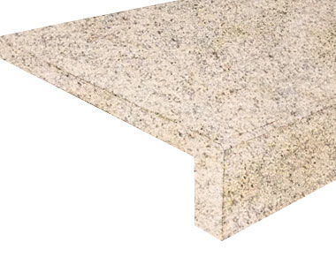 summer daze granite drop face pool coping tiles, yellow copin, light coping tiles, granite coping