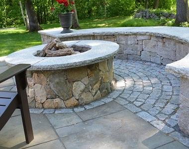 Dove white cobblestones natural stone outside pavers