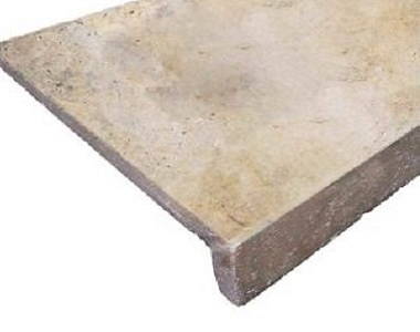 Ivory Rustic Travertine Drop Face Pool Coping tiles, beige tile, cream tiles, light tiles, stone pavers australia