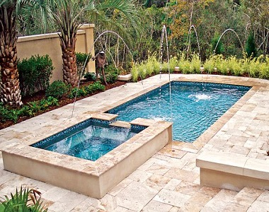 Ivory Rustic Travertine Drop Face Pool Coping tiles, beige tile, cream tiles, light tiles, stone pavers melbourne, sydney, brisbane