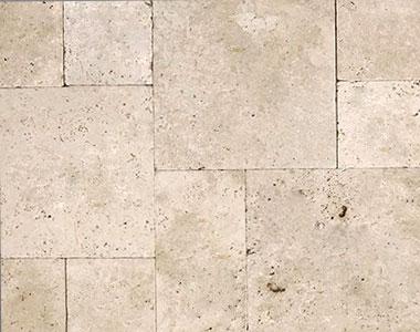 ivory travertine pavers french pattern beige coloured pavers by stone pavers australia