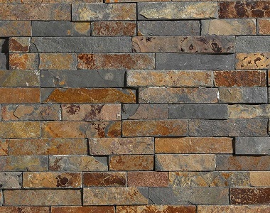 kakadu stack stone wall cladding tiles, natural stone tiles, brown rustic tiles, water feature tiles, fireploace stone wall tiles by stone pavers