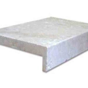 Ivory Travertine Drop Face Pool Edge Coping Tiles
