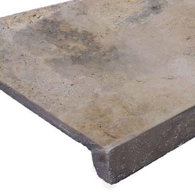 Antique Travertine drop face pool coping tiles and pavers by stone pavers
