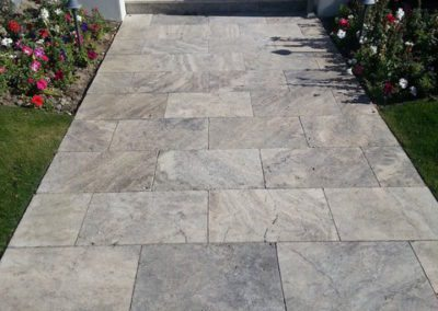 silver travertine outdoor tiles