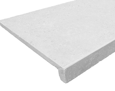 White drop down pool coping tiles, white pool coping, stone pavers melbourne, sydney