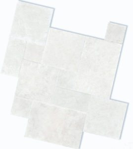 Shell White Travertine French Pattern