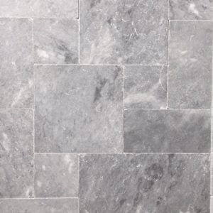 Pearl Grey Limestone Tumbled and Honed Surface No Holes