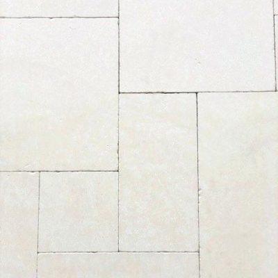 capri white travertine french pattern travertine tile and pavers melbourne