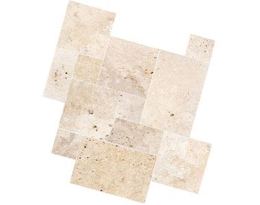 ivory travertine tiles french pattern premium grade pavers by stone pavers australia