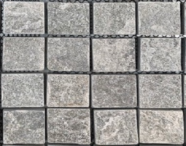 tumbled grey cobblestones tiles and pavers