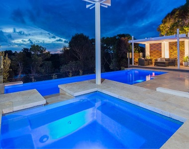 Ivory Travertine Drop Face Pool Coping Tiles and Pavers, beige tiles, cream tiles, stone pavers melbourne