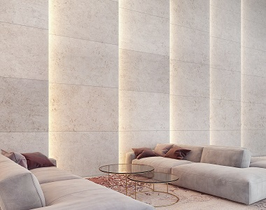 Ivory Travertine Tiles Indoor Filled and Honed by stone pavers, wall cladding