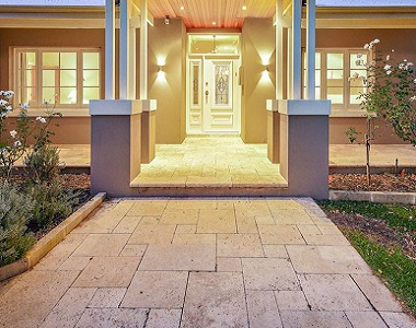 Rustica travertine tiles and pavers melbroune outdoor tiles by stone pavers