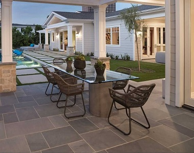 cheap french pattern tiles and pavers in bluestone