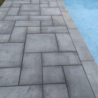 french pattern bluestone, black tiles, grey tiles stone pavers australia