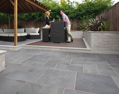 french pattern bluestone tiles and pavers