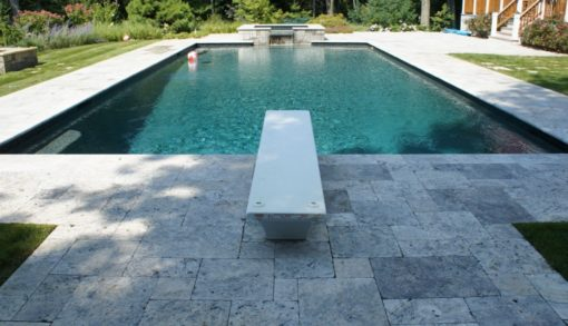 silver travertine french pattern tiles and pavers, silver tiles by ston pavers