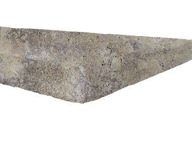 silver travertine pool coping tumbled tiles, silver tiles, silver coping, silver pavers by stone pavers australia
