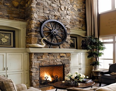 earth ledgestone fireplace stone wall cladding