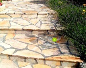 sandstone crazy paving stairs and step treds melbourne sydney brisbane canberra