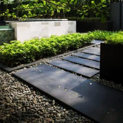 concrete pavers black tiles melbourne