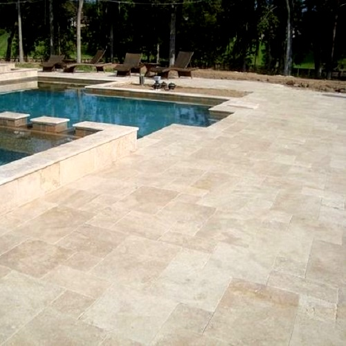 ivory travertine pavers tiles bunnings sale