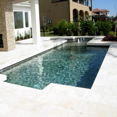 white travertine tiles and pavers in melbourne