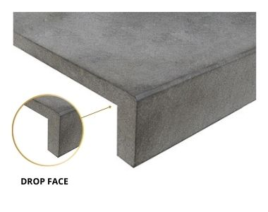 drop face pool coping tile